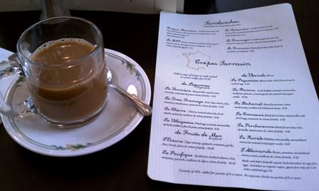 Chez Machin Coffee and Menu